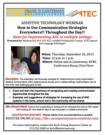 image of AAC Implementation Across Environments webinar flyer