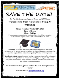 AT High School Transition flyer