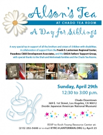 sibling tea flyer