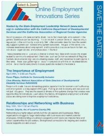 employment innovation series flyer