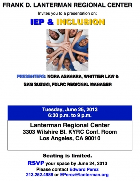 image of the IEP Inclusion flyer