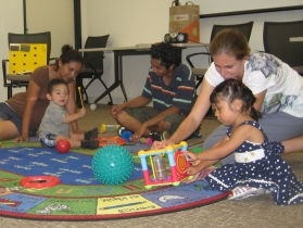 children playing during KYRC playgroup session