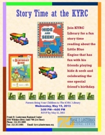Little Engine That Could storytime flyer