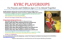 Playgroups flyer for spring/summer and summer 2013 sessions