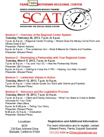 graphic of the Feb 2013 SCAT flyer