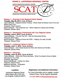 graphic of the May 2013 SCAT flyer