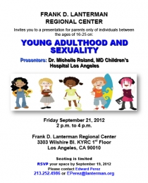 image of young adulthood and sexuality flyer