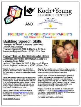 image of speech flyer