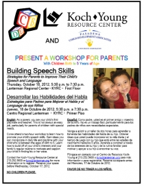 image of speech workshop flyer