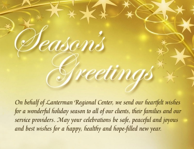 Lanteman holiday message graphic